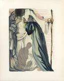 Divine Comedie, Purgatoire 14: Un esprit interroge Dante Reproductions pour les collectionneurs par Salvador Dalí