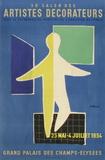 Salon des Artistes Décorateurs 1954 Keräilyvedokset tekijänä Bernard Villemot