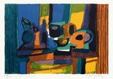 Nature morte à la bouteille bleue Collectable Print by Marcel Mouly