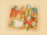 Le panier de pommes Collectable Print by Francoise Deberdt