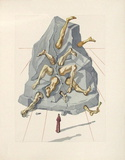 Divine Comedie, Enfer 19: Les Simoniaques Collectable Print by Salvador Dalí