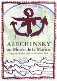 Expo 134 - Musée de la Marine Samlingstryck av Pierre Alechinsky