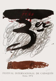 Expo 72 - Festival de Cadaquès Collectable Print by Antoni Tapies