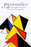 Expo 80 - Galerie Jacques Damase Pyramides Reproductions de collection par Alexander Calder