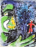 Le Profil Et L'Enfant Rouge Collectable Print by Marc Chagall