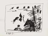 A los toros : jeu de la cape Edição premium por Pablo Picasso
