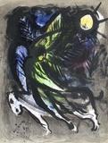 L'Ange Survolant La Forêt D'Eden Lámina coleccionable por Marc Chagall