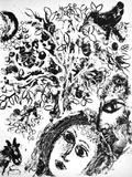 Cl - Le Couple Devant L'Arbre Reproductions pour les collectionneurs par Marc Chagall