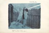 Nuit Blanche Sammlerdrucke von Jean-Gabriel Domergue