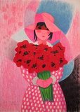 Niña Con Flores Collectable Print by Trinidad Osorio