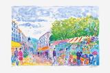 Cannes, le marché aux fleurs Collectable Print by Jean-claude Picot