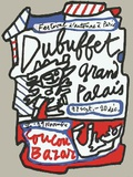 Coucou Bazar Impressão colecionável por Jean Dubuffet