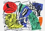Partie De Campagne Samlarprint av Fernand Leger