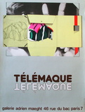 Expo Galerie Maeght 81 Collectable Print by Herve Telemaque
