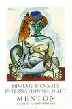 Expo 74 - Biennale de Menton Impressão colecionável por Pablo Picasso