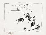 A los toros : la pique Impressão colecionável por Pablo Picasso