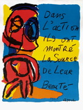 Dans L'Action Impressão colecionável por Karel Appel