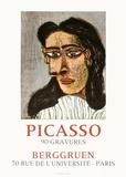 Expo 71 - Berggruen Impressão colecionável por Pablo Picasso