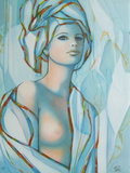 Le turban bleu Collectable Print by Jean-Baptiste Valadie