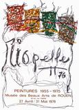 Expo 76 - Musée des Beaux Arts de Rouen Collectable Print by Jean-Paul Riopelle
