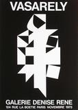Expo 73 - Galerie Denise René Trykk-samleobjekter av Victor Vasarely