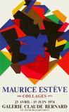 Expo 74 Galerie Claude Bernard Impressão colecionável por Maurice Esteve