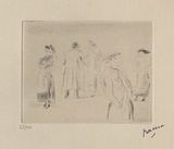 023 - Dans une rue Limited Edition by Jules Pascin
