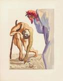 Divine Comedie, Purgatoire 07: Les Princes De La Vallée Keräilyvedokset tekijänä Salvador Dalí