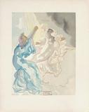 Divine Comedie, Paradis 05: Nouvel aspect de Beatrice Collectable Print by Salvador Dalí