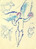Plafond de Lopera - Loiseau de Feu Reproduction pour collectionneur par Marc Chagall