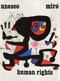 UNESCO Human Rights Impressão colecionável por Joan Miró