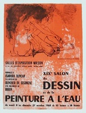 Expo Salon Du Dessin Collectable Print by Jean Jansem