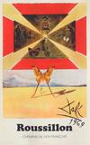 Affiches SNCF: Roussillon Keräilyvedos tekijänä Salvador Dalí