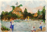 Paris, Les Buttes-Chaumont Collectable Print by Urbain Huchet