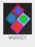 Expo Vasarely (affiche avant la lettre) Trykk-samleobjekter av Victor Vasarely