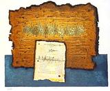 Dead Sea Scrolls Serigrafi (silketryk) af Moshé Castel