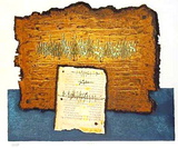 Dead Sea Scrolls Silketrykk av Moshé Castel