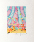 Les Clowns Collectable Print by Valérie Hermant