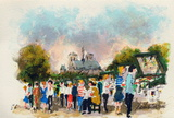 Paris, Les Bouquinistes Collectable Print by Urbain Huchet