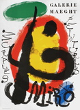 Galerie Maeght, Peintures Recentes Collectable Print by Joan Miró