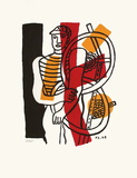 Le CycIIste I Impressão colecionável por Fernand Leger