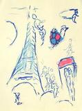 Plafond de l'Opéra: Lange de Mozart Collectable Print by Marc Chagall