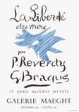 Utställningen Liberte des Mers Samlartryck av Georges Braque