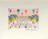 Valérie Hermant - Paris, L'Arc De Triomphe - Koleksiyonluk Baskılar
