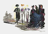 Défilé de haute-couture Collectable Print by Hyppolyte Romain
