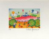 Cueillette De Pommes Collectable Print by Valérie Hermant