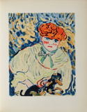 Femme au Chien, 1906 Collectable Print by Maurice De Vlaminck