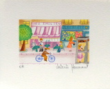 Chez EmiIIe Collectable Print by Valérie Hermant