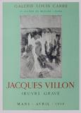 Expo Galerie Louis Carré Sammlerdruck von Jacques Villon