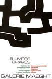 Cinq Livres Graves Samlertryk af Eduardo Chillida